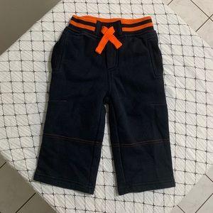 JOE FRESH   Navy & Orange Sweatpants 1Y